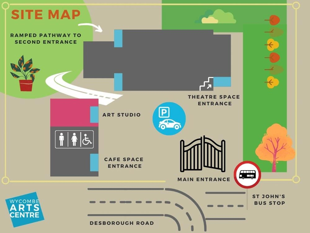 Wycombe Arts Centre Site Map