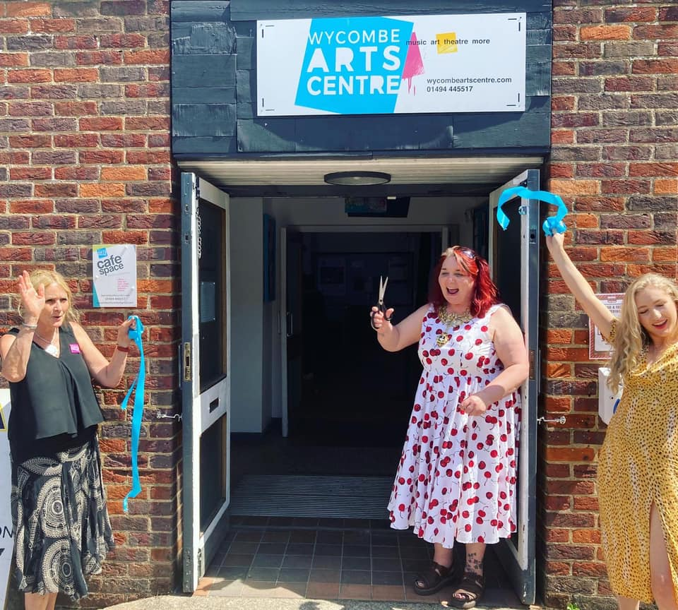 The Mayor Opens the Cafe Space Gallery at Wycombe Arts Centre