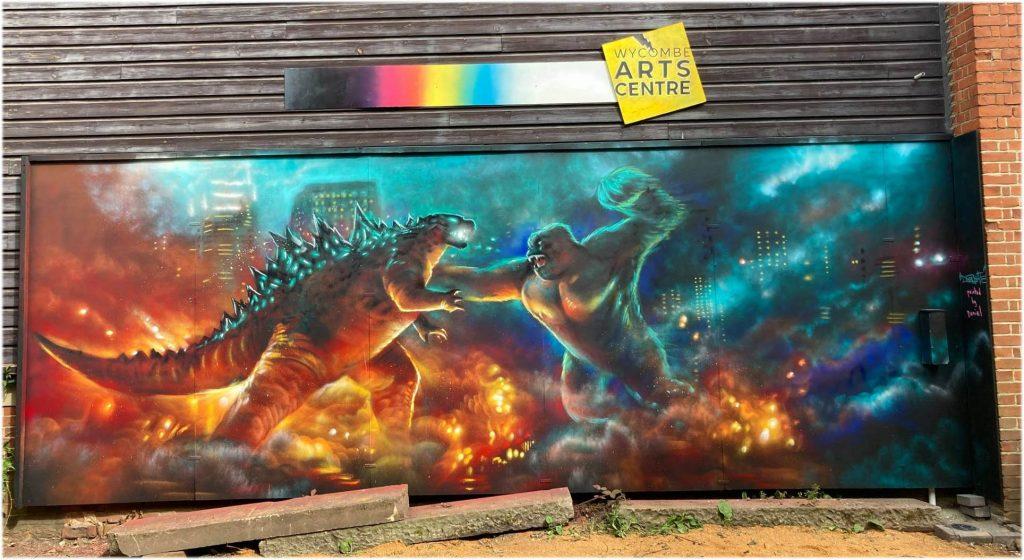 Dan Wilson/Decreate Godzilla vs King Kong Kaiju Mural