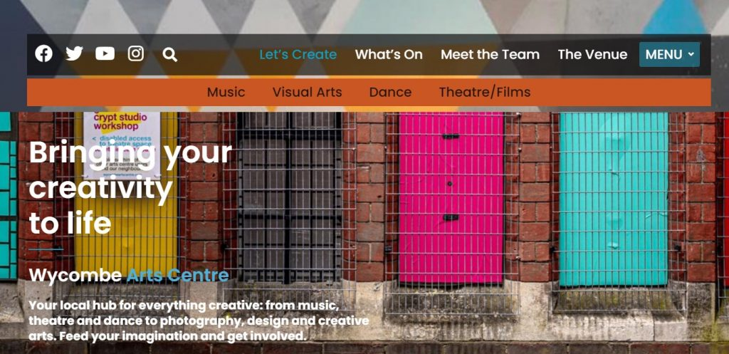 Wycombe Arts Centre Homepage