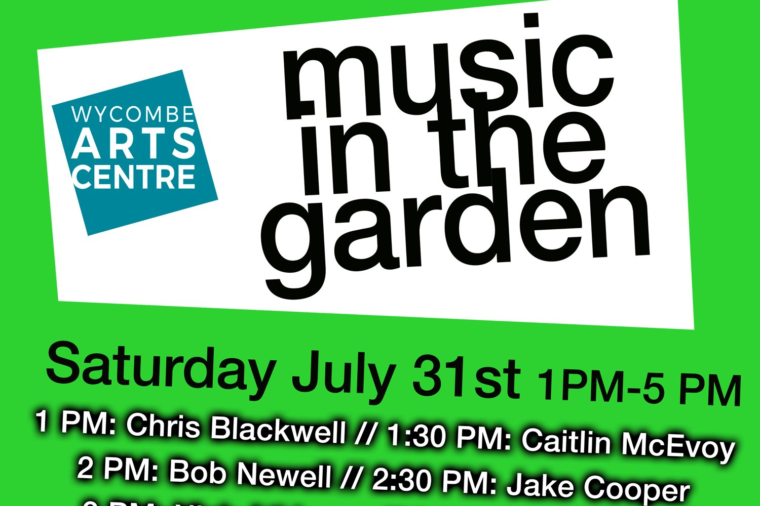 Music in the Garden at Wycombe Arts Centre