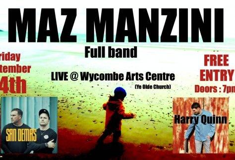 Maz Manzini at Wycombe Arts Centre